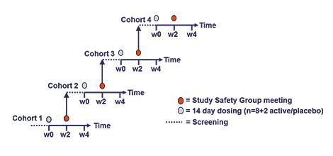 Multiple Ascending Dose study design